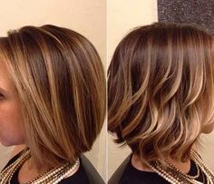 Balayage has been around for a long time now and the trend is hanging on as it's a matchless way of colouring that gives personal results. Balayage is a. Hair Styles 2014, Short Hair Styles, Balayage Bob, Balayage Highlights, Bronde Bob, Brunette Balayage Hair Short, Carmel Highlights, Color Highlights, Blonde Ombre