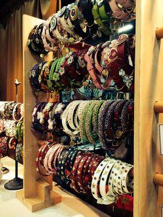 Dosha Dog collar display at Superzoo