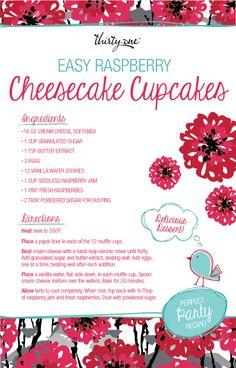 Cheesecake Cupcakes  http://mythirtyone.com/jessicastott  https://www.facebook.com/groups/JessicasTOTEallyAwesomeVIPCustomerPage/