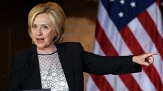 June 23, 2015: Democratic presidential candidate Hillary Rodham Clinton speaks during a campaign stop at Christ the King United Church of Christ.