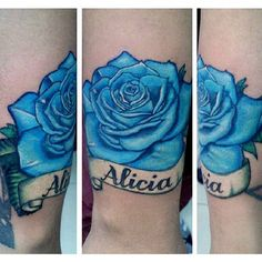 Blue Rose Tattoo By Analisbet Luna