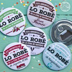 ¡Tenemos el regalo más original y económico para las cenas de Navidad! Personaliza nuestros abrebotellas magnéticos con los colores y el logo de tu empresa y sorprende a tus compañeros. http://yosoytuchapa.com/home/87-al-ladron.html