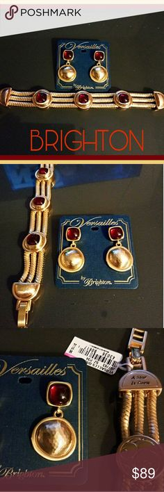 """Brighton Versailles Bracelet & Earrings Set Authentic Brighton """"Versailles"""" Bracelet & Earrings set NWT. Invoking a bit of French & Egyptian, this absolutely stunning combo is a real eye catcher. Not only is this set beautiful, but it also feels very solid. Brand new with tags.  MSRP $148 Brighton Jewelry Bracelets"""