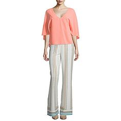 jcp | Bisou Bisou® Cape-Sleeve Top or Flare Pants with Slits