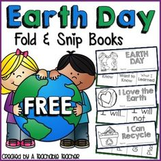 """Click here to view my blog post on the Earth Day Fold & Snip Books!  These FREE Earth Day Fold & Snip Books  are the perfect graphic organizers for introducing, reviewing, or celebrating Earth Day in the primary classroom!  Included upon instant download: •Directions •""""Earth Day KWL"""" Fold & Snip Book •""""I Love the Earth"""" Fold & Snip Book •""""I Can Recycle"""" Fold & Snip Book •Credits  Download the preview for a closer look!"""