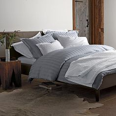 Bamboo Cotton Duvet Cover & Sham | The Company Store - Mom, it comes in white too.
