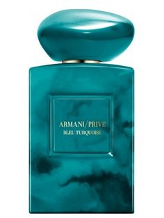 Armani Privé Bleu Turquoise by Giorgio Armani is a Oriental Spicy fragrance for women and men. This is a new fragrance. Armani Privé Bleu Turquoise was . Perfume Armani, Armani Prive Parfum, Armani Fragrance, Perfume Hermes, Perfume Diesel, Best Perfume, Perfume Bottles, Pantone Turquoise, Jars