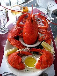 boiled lobster dinner ~ classic cape cod!