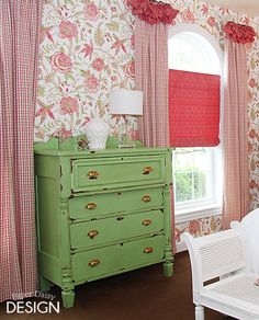 Anitbes Green Dresser, Annie Sloan Chalk Paint (Tinted with Old White)