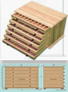 Collectors Chest Plan - Woodworking Plans, Woodworking Projects | WoodArchivist.com #woodworkingbench #SmallWoodworkingProjectsFreePlans #woodworkplans #WoodworkPlans
