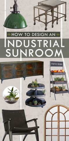 The Epitome Of Bringing The Outdoors In: Take advantage of spring's temperate weather and create an industrial sunroom in your home. Bring nature inside and create a space that is full of sunshine, great design, and life! Shop Now at dotandbo.com!