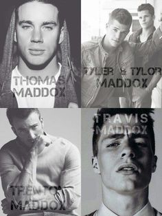 Familia Maddox-Thomas, Tyler & Tylor, Trentom and Travis Maddox