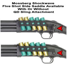 The Mossberg Shockwave Side Saddle Shell Holder provides five round of extra ammunition at the correct angle for quick tactical reloads. Visit GG&G for all of your Shockwave Accessories. Shotguns, Firearms, Mossberg Shockwave, Combat Shotgun, Snakebite, Tactical Shotgun, Side Saddle, Home Protection, Side Wall