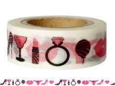 Masking Tape - Washi Tape BEAUTY PARTY schwarz und pink - ein Designerstück von Fitzi-Floet bei DaWanda