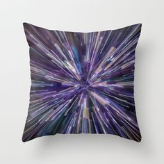 Welcome to the Galaxy Throw Pillow by Charlene McCoy - $20.00
