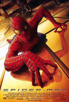 Marvel in film - 2002 - Movie poster - Spider-Man by Sam Raimi Spiderman 2002, Spiderman Poster, Amazing Spiderman, Spider Man Trilogy, Kirsten Dunst, Man Movies, Good Movies, Movies Showing, Movie Posters