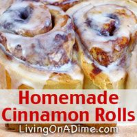Our family's favorite! Looking for easy and inexpensive homemade cinnamon rolls? You can make these homemade cinnamon rolls in a few minutes for less than $1.50 per batch! Click here to get this yummy #recipe http://www.livingonadime.com/homemade-cinnamon-rolls-recipes/.