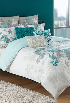 Blue floral bedding