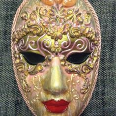 Decorative Venetian Masks Impressive Venetian Costume Mask Handmade Wearable Wall Decoration In Gold Review