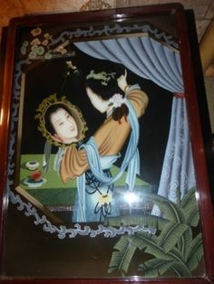 A-RARE-ANTIQUE-REVERSE-PAINTING-A-VIEW-OF-ONES-SELF
