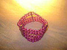 Pulseira de cristais roxos