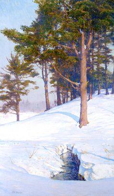 Winter Landscape with Stream - Walter Launt Palmer