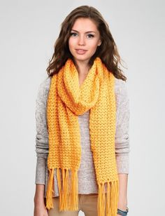 Yarnspirations.com - Caron Straight Up Scarf - Patterns  | Yarnspirations