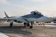 Sukhoi T-50 PAK FA   'great white shark' camouflage