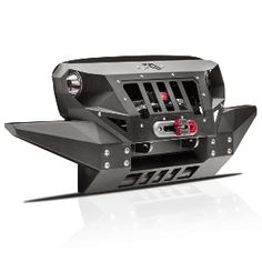 Fab Fours Front Full Width Grumper Winch Bumper with Integrated Skid Plate - Textured Black