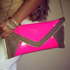 Neon clutch ♥
