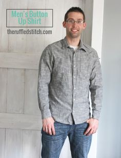 Men s Button Up    McCalls pattern    sewing for men    handmade wardrobe     I make my clothes    learn to sew clothes    how to sew    learn to sew  ... 2968a3161566