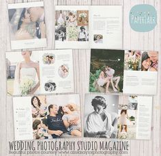 Wedding Photography Magazine 22 Page Photoshop Template by PaperLarkDesigns, $69.95 https://www.etsy.com/listing/171737579 #photography #marketing #templates