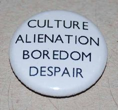 Manic Street Preachers Culture Alienation Boredom Despair