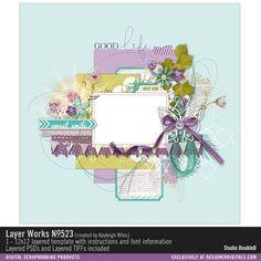 Layer Works No. 523- Studio Double-D Templates- LT531497- DesignerDigitals