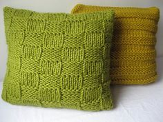 Knitting pattern super chunky cushion covers by laurimuks on Etsy