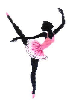 An attractive silhouette of a ballet dancer with pink tutu and pink ballet shoes.