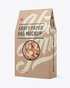 Kraft Paper Bag W/ Window Mockup - Halfside View. Present your design on this mockup. Simple to change the color of different parts and add your design. Includes special layers and smart objects for your creative works. Bag Mockup, How To Make Logo, Bottle Mockup, Mockup Templates, Packaging, Creative Words, Kraft Paper, Ipad, Fireworks Animation