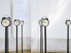 8h shift , art instalation in front of the Romanian Pavilion, Site under Construction, at 14th International Architecture Exhibition La Biennale di Venezia