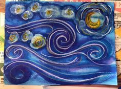 Starry Night Watercolor Lesson