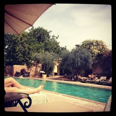 By the pool @Hotel Les Deux Tours Marrakech picture by Camilla Naeristorp march 2014