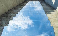 Mirror installation Heaven on Earth (2014) by Shirin Abedinirad