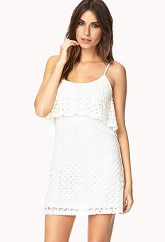 Honeymoon dress.   Boho Doll Crocheted Shift Dress | FOREVER 21 - 2000066190