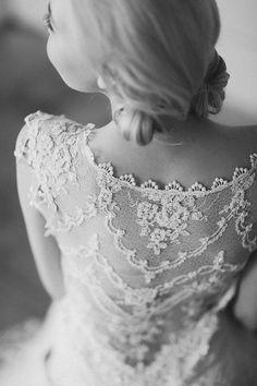 Chantilly Designer Wedding Dress by Claire Pettibone
