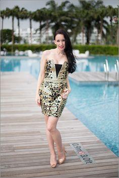Fashion blog – Brokat minidress in Asia – Fashion shooting