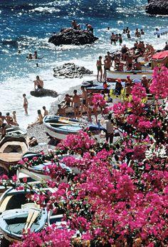 Summer, sand and... pink flowers | BAREF☮OT TRAVELLER