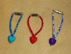 Purple Sweetheart Necklace for BLYTHE! Goodies, Beaded Necklace, Purple, Handmade, Jewelry, Sweet Like Candy, Beaded Collar, Hand Made, Jewlery