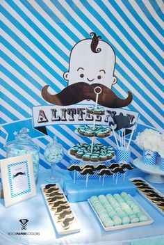 Treats at a Little Man Mustache Party #littleman #mustacheparty