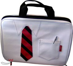 Cool Laptopbag in Buisness Outfit Design. Neopren Laptop Bag in necktie and shirt design $25