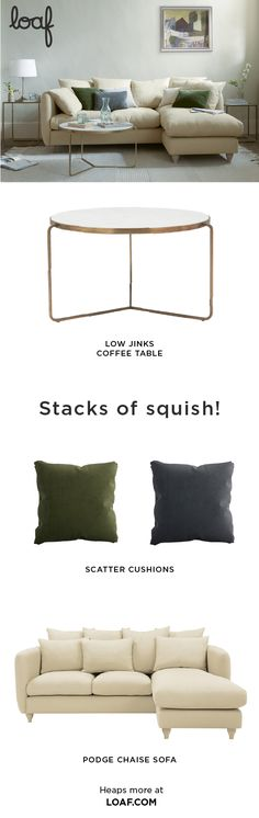 If you're dialling S for Squish, why not push the boat out? Nothing beats this squishy fabric L-shaped sofa for full-length flopping!