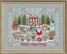 NEW Christmas Stitch-A-Long SAL counted cross stitch patterns by Tiny Modernist by thecottageneedle